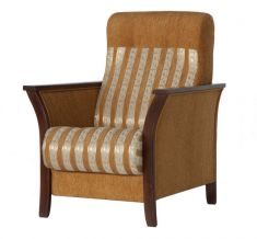 křeslo TOMAN béžová / ořech tm. Armchair, Furniture, Home Decor, Sofa Chair, Single Sofa, Decoration Home, Room Decor, Home Furnishings, Home Interior Design