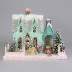 Gorgeous All Things Christmas, Christmas Home, Christmas Crafts, Christmas Ornaments, Christmas Village Houses, Christmas Villages, Cody Foster, Glitter Houses, Christmas Party Games