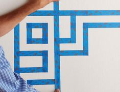 How to Paint Stripes on a Wall - Taping Simple Geometric Pattern, Bob Vila, Paint Stripes, Wall, Paint Ideas, Painting, Apartment Ideas, Living Room, Future