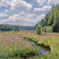 Summer Meadow in Pobojka by Stanislav Yulianovich Zhukovsky - 1938.