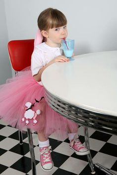How adorable is this photo in her Pink Poodle Skirt Tutu from Atutudes? LOVE IT!