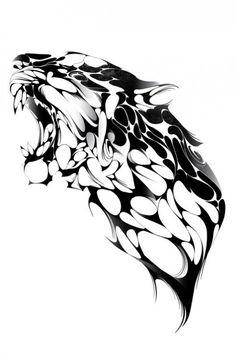 Ideas For Tattoo Geometric Animal Panther Tiger Tattoo, Lion Tattoo, Inca Tattoo, Graphic Illustration, Graphic Art, Illustrations, Trendy Tattoos, Tribal Tattoos, Tatoos