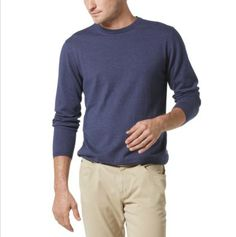 light sweater and 5 pocket cords for any Saturday or Sunday