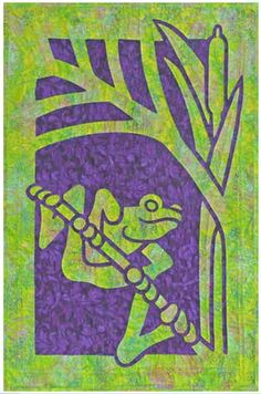 Frog Quilt Pattern Pacific Rim Quilt Company DIY Quilting Sewing