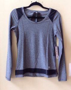 NWT RBX ACTIVE WOMEN'S MULTI-COLOR POLY/SPANDEX LONG SLEEVE ATHLETIC TOP SIZE S #RBXACTIVE #ShirtsTops