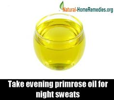 Evening Primrose contains GLA (Gamma Linoleic Acid) which provides relief from night sweats and hot flashes.