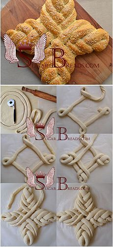 Пасхальный хлеб (video) | Sugar & Breads in Russia. I'm probably going to use this pattern for fancy pretzels