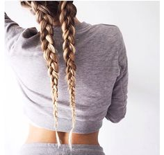 Casual two braided hair look --> Subscribe for more pins kdicupe7