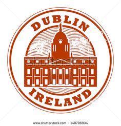 Grunge rubber stamp with Dublin, Ireland inside, vector illustration Dublin Ireland, Footprints, Paint Designs, Grunge, Royalty Free Stock Photos, Scrapbooking, Stamp, Logos, Illustration