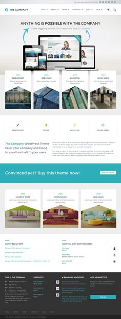 The Company from ThemeForest - a beautiful wordpress theme.