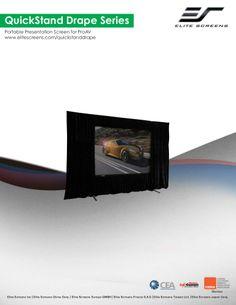 Elite quickstand drape screen by DukaneAVMarketing via slideshare