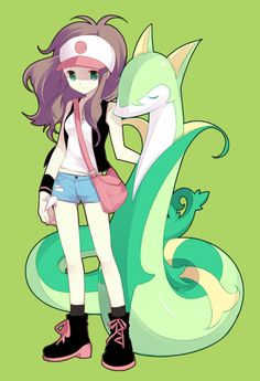 Pokémon - [ポケモン] Touko/Hilda with Serperior.
