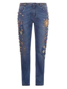Embellished boyfriend jeans | Dolce