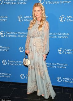 Beautiful in blue! Nicky Hilton sported a flowing ethereal gown in baby blue featuring a s...