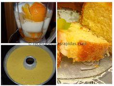 Como sempre é fácil e rápido de fazer, e aproveita-se tudo! Tem um sabor bastante forte a laranja.  A receita é esta:  Ingredientes:  2 laranjas pequenas ou 1 grande 4 ovos 1
