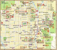 LE JAPON TRADITIONNEL - Plan de Kyoto