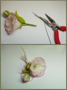 Эустома (лизиантус) из полимерной глины - Ярмарка Мастеров - ручная работа, handmade