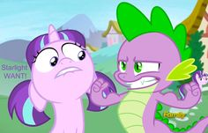 #1126924 - discovery family logo, edit, edited screencap, filly, floppy ears, love triangle, muscles, safe, screencap, scrunchy face, shipping, sparlight, spike, starlight glimmer, straight, teeth, unf, want - Derpibooru - My Little Pony: Friendship is Magic Imageboard