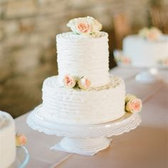 Two-Tier Wedding Cakes Simple White Wedding Cake – The Knot