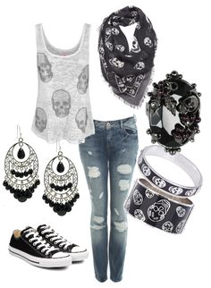 New Style Rock Chic Rocker Chick Casual Ideas Scene Outfits, Emo Outfits, Casual Outfits, Fashion Outfits, Skull Outfits, Skater Outfits, Fashion Boots, Tomboy Outfits, Disney Outfits