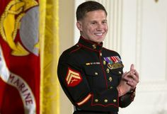Retired Marine Cpl. William Kyle Carpenter - Medal of Honor recipient.  This is a true hero.  Thank you Cpl. Carpenter for your bravery and sacrifice.