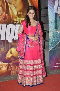 Madhuri Dixit, Huma Qureshi at the Dedh Ishqiya premiere   PINKVILLA