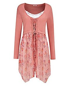 68cf86f2c1e1e Bnwt Joe Browns Pink Caroline s Favorite Cover-Up Tunic 14 - Plus Size 26