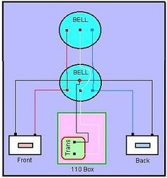 Doorbell wiring diagrams doorbell pinterest house doorbell wiring with 2 chimes google search cheapraybanclubmaster Choice Image