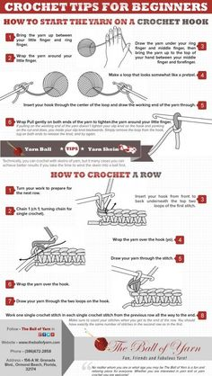 #crochet tips for beginners - infographic