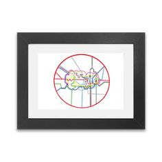 Central Line Tube Tiki  Framed Print