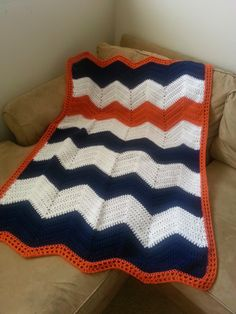 Creative Highs: Crochet Chevron Blanket Free Pattern