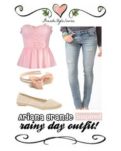 Ariana Grande inspired rainy day (hanging with friends) outfit.    » view outfit here! «