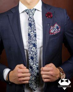 Nyakkendő Zsebkendő Dísztű Sötétkék Virágmintás, 3 darabos készlet Tie Set, Pocket Square, Lapel Pins, Floral Tie, Tie Clip, Celebrity Style, Club, Tuxedo, Celebrities