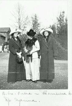 Olga and Tatiana with their Aunt, Princess Irene
