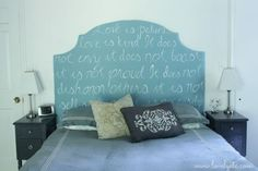 one of a kind diy upholstered headboard, bedroom ideas, diy, how to, painted furniture, repurposing upcycling, reupholster