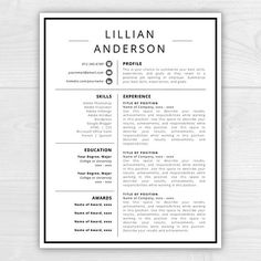 Professional Resume Templatecover Letter Cv By Resumedesignstudio