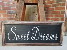 Rustic Sweet Dreams Sign. Rustic decor, baby shower gift, rustic baby gifts, handmade signs, nursery room sign, baby decor, bedroom signs by LoveTheJunk on Etsy