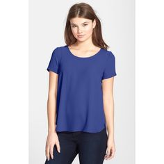 lush • short sleeve blouse dazzling blue. wore once for few hours Lush Tops Tees - Short Sleeve