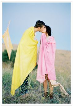 True blanket love...this would make the perfect Berkshire Blanket wedding.
