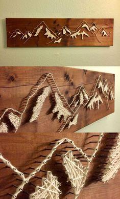 - Baby Geschenke Fadenbild stuff diyFadenbild - Baby Geschenke Fadenbild stuff diy shop: World Map Mountain String Art-Wall Art Mountain Range String Art. Wood Crafts, Fun Crafts, Diy And Crafts, Arts And Crafts, String Art Diy, String Crafts, Wood Art, Animal Print Rug, Diy Gifts