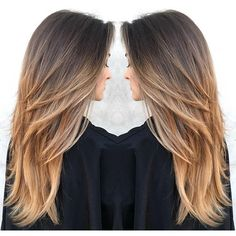 Fall(ing) hard for this hair on Nicole Travolta by - Schulterlange Haare Ideen Long Layered Haircuts, Haircuts For Long Hair, Long Hair Cuts, Long Hair Styles, Grunge Hair, Hair Highlights, Cut And Style, Balayage Hair, Dyed Hair