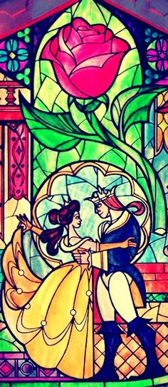 Beauty and the Beast.. this would make a great tattoO!