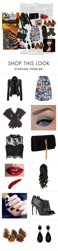 """sheIn"" by adisa-hadzic4 ❤ liked on Polyvore featuring Glamorous, Yves Saint Laurent, TheBalm, IVI, Alexandre Birman and shein"