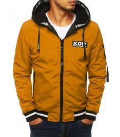 Dvojvrstvová pánska bunda s kapucňou hnedá Hooded Jacket, Rain Jacket, Windbreaker, Casual, T Shirt, How To Wear, Jackets, Clothes, Lord Shiva