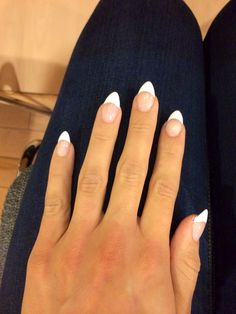 French tip pointy nails!