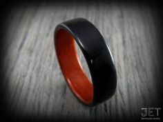 Bentwood Ring. Ebony Lined with Chakote by JETbentwoodjewelry