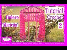 "Bolero Crochet Ganchillo ""Maricita""  (2) ""por Maricita Colours Tutorial ..."