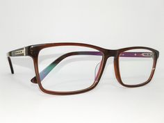 Óculos Grande Armação Acetato Masculino Tamanho 58 Marrom