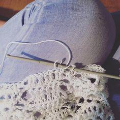 betasemmarca:: It's raining outside  So cozy inside working on a custom order #custom order #crochetjacket #bohostyle #indiestyle #workinprogress