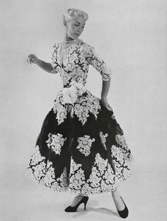 lofficiel de la mode 1953. dress. Pierre Balmain